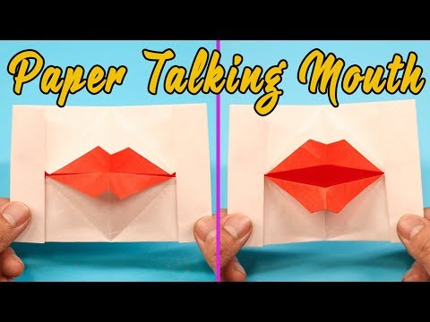 Photo of Paper Mouth Could Talk? – Easy Origami Paper Talking Mouth/Lips Step by Step