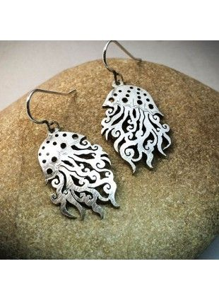 The Official Hairy Growler Jewellery Co. Cambridge - handcrafted and recycled spoon jellyfish earrings