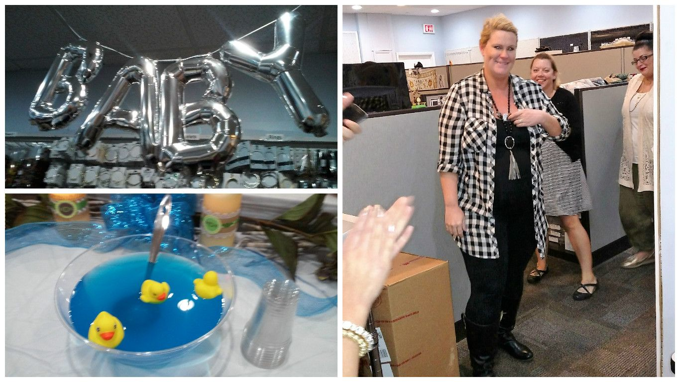 "Congratulations to our Design Manger, Kristine and her baby boy! What a wonderful surprise baby shower put on by our awesome design team. In the words of our Design Support team member Nancy, ""Kristine deserves the world - she is the best design manager!""  #cousindiy #cousincorp #itsaboy #babyshower #companyculture #laurajanelle #primabead"