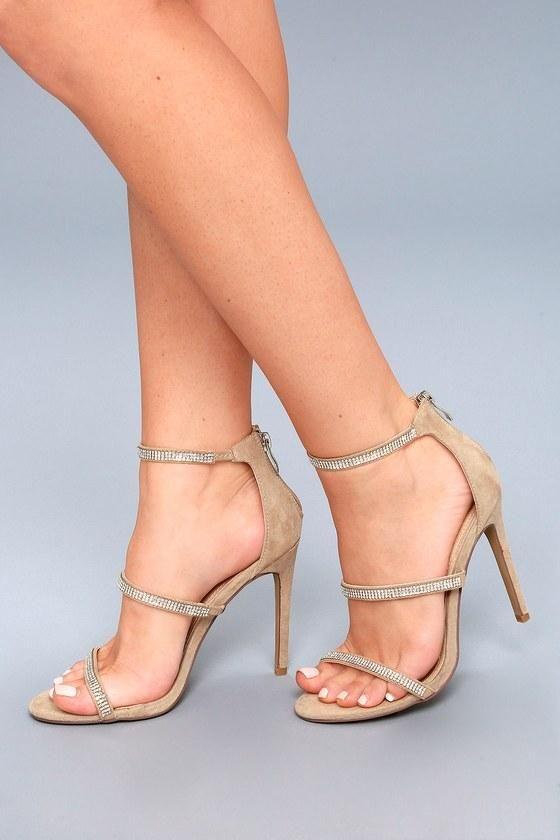 Lulus Aerin Rose Rhinestone Ankle Strap Heels - Lulus