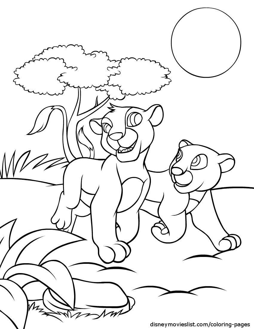 Disneys Lion King Coloring Pages Free Disney Printable Color Page
