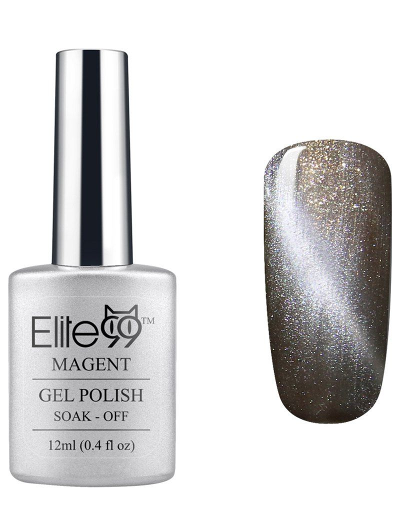 Elite UV LED Soak Off Magnetic D Cat Eye Grey Series Gel Nail