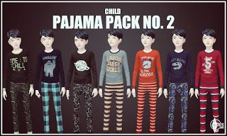 The second pajama pack for your kids has 16 new tops and matching bottoms. All 16 options are available for girls with 8 of them available for your boys.