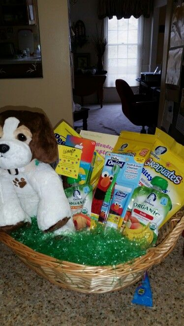 Baby easter basket idea for our 7 month old granddaughter comes baby easter basket idea for our 7 month old granddaughter comes with baby food negle Gallery