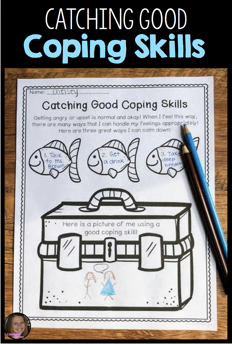 Coping Skills Activities - Fishing Themed | Social worker