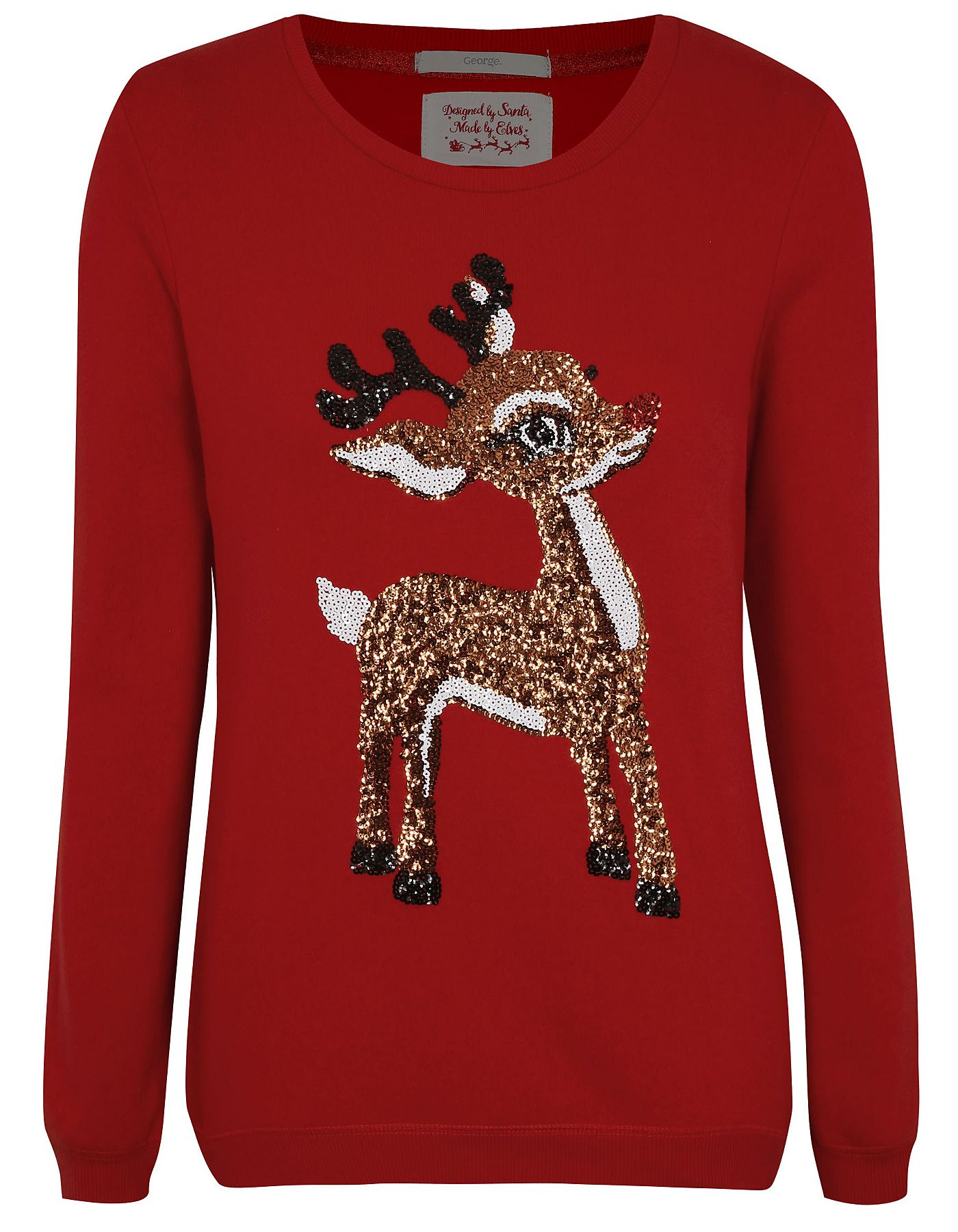 limited style cheaper special selection of Sequin Reindeer Jumper | Women | George at ASDA | Best ...