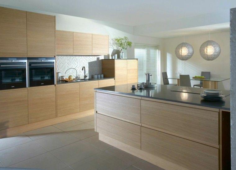 muebles cocina madera roble clara interiores para cocina
