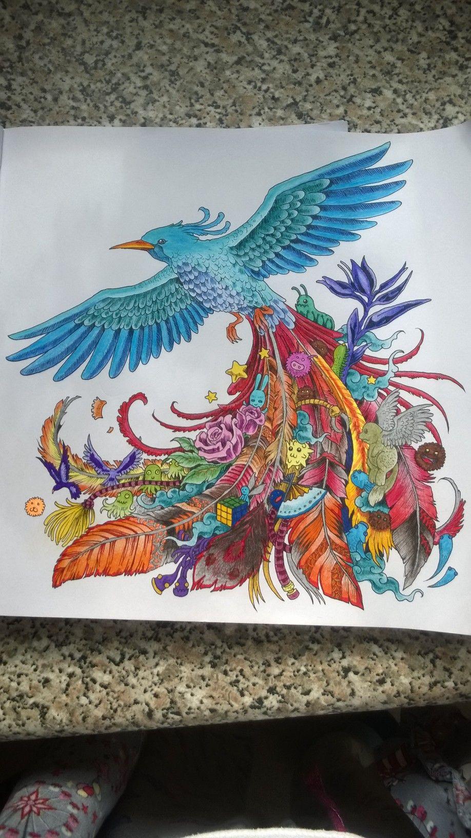 Animorphia Colouring Book Bird 1 By Kaydkay92 Deviantart Com On Deviantart Animorphia Coloring Book Coloring Book Art Coloring Books