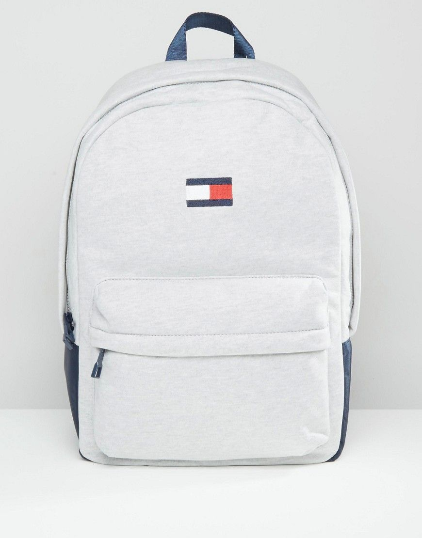 Image 1 Of Tommy Hilfiger Exclusive Flag Backpack In Gray Girl Backpacks Tommy Hilfiger Bags Backpacks