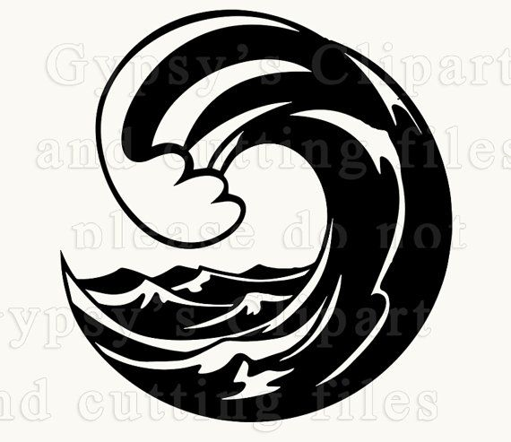 Wave Svg Ocean Wave Wave Border Ocean Wave Svg By Gypsysclipart