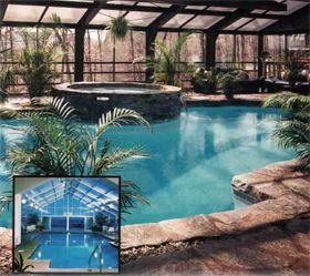 Pool Enclosures Swimming Pool House Swimming Pools Backyard Pool Enclosures