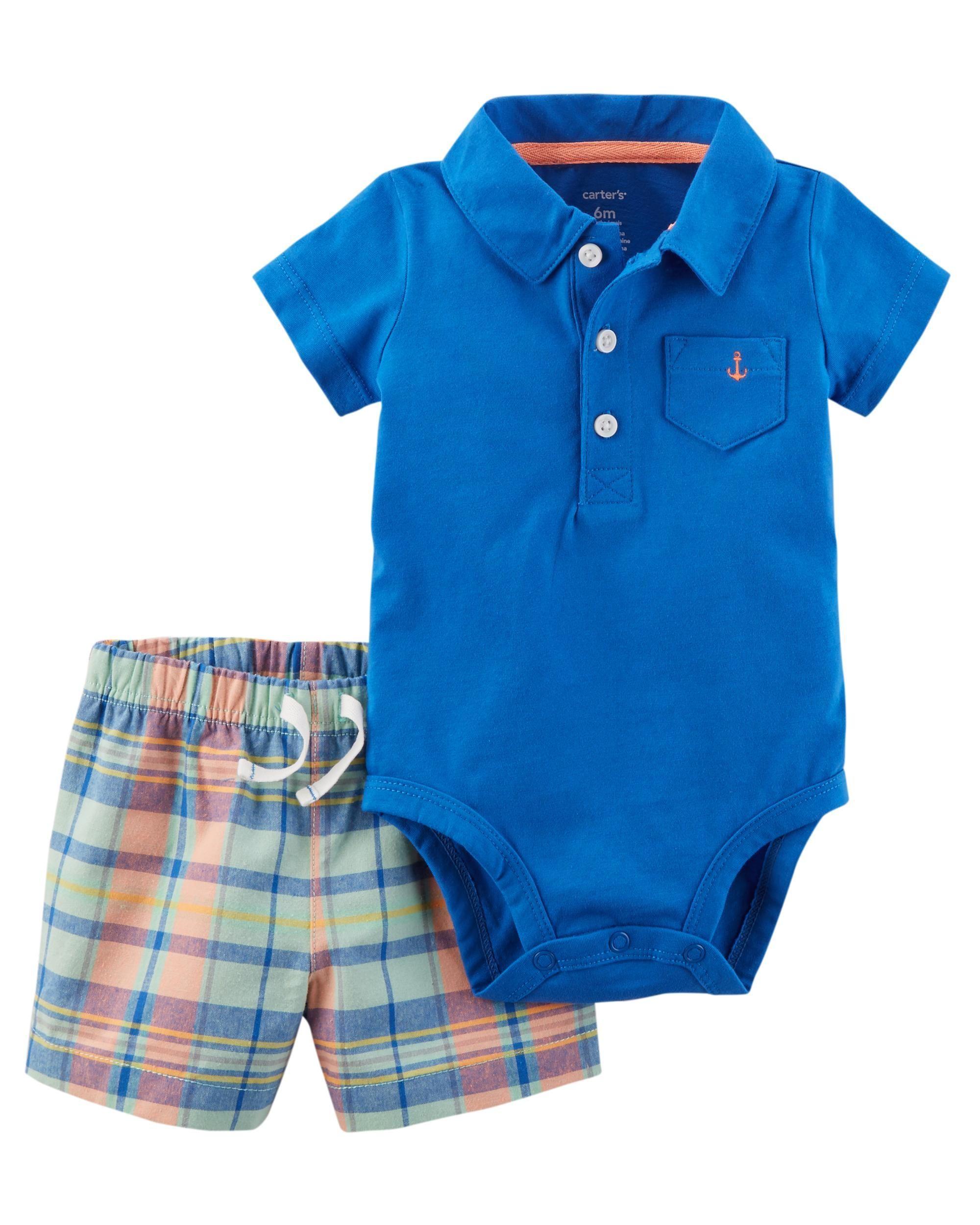 e9f97c4870d3e 2-Piece Bodysuit Short Set | Mama Guga | Baby boy fashion, Baby boy ...