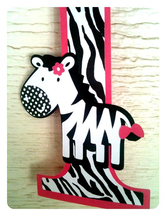 This is a Zebra Number One First Birthday sign Perfect for the