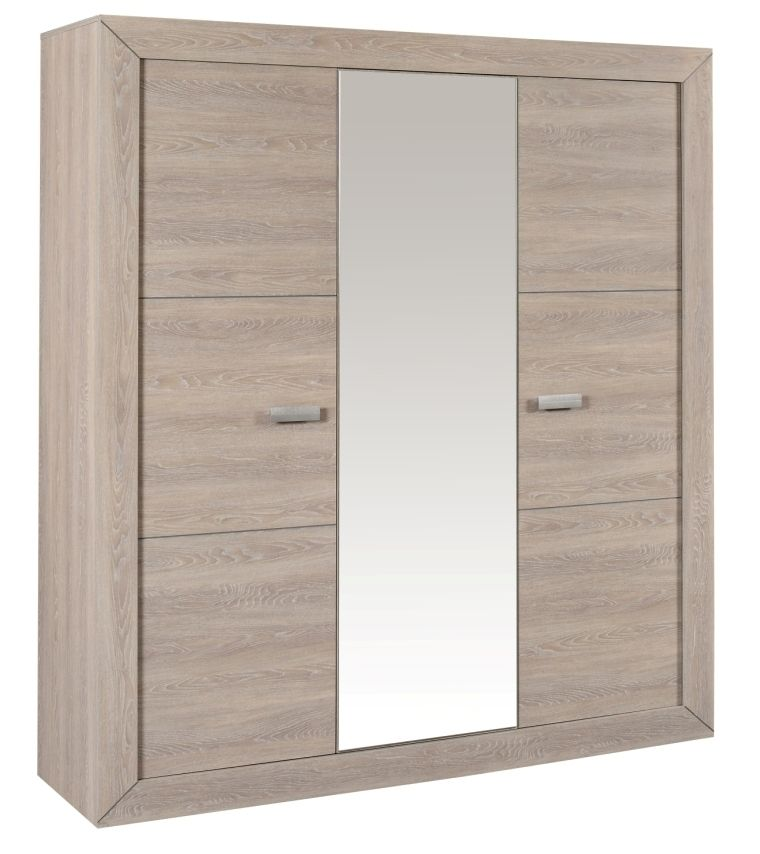 Armoire 3 Portes Gris Clair 2 Door Wardrobe Furniture Locker