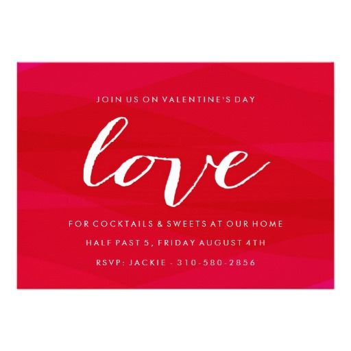 Seeing Red ValentineS Day Party Invitation I Love The Texture On