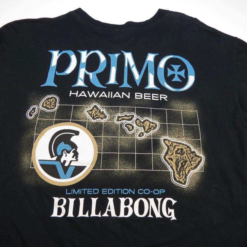 1ebec40bc2 PRIMO HAWAIIAN HAWAII BEER LTD EDT CO-OP BILLABONG TEE T SHIRT Sz Mens XL # Billabong #GraphicTee #Everyday