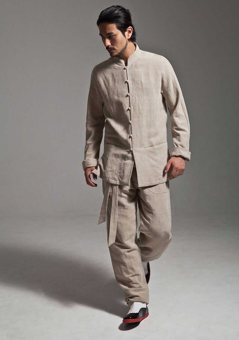 9f6a09cb5d0 Grey Cotton Linen Kung Fu Tai Chi Suit Uniform http://www.interactchina