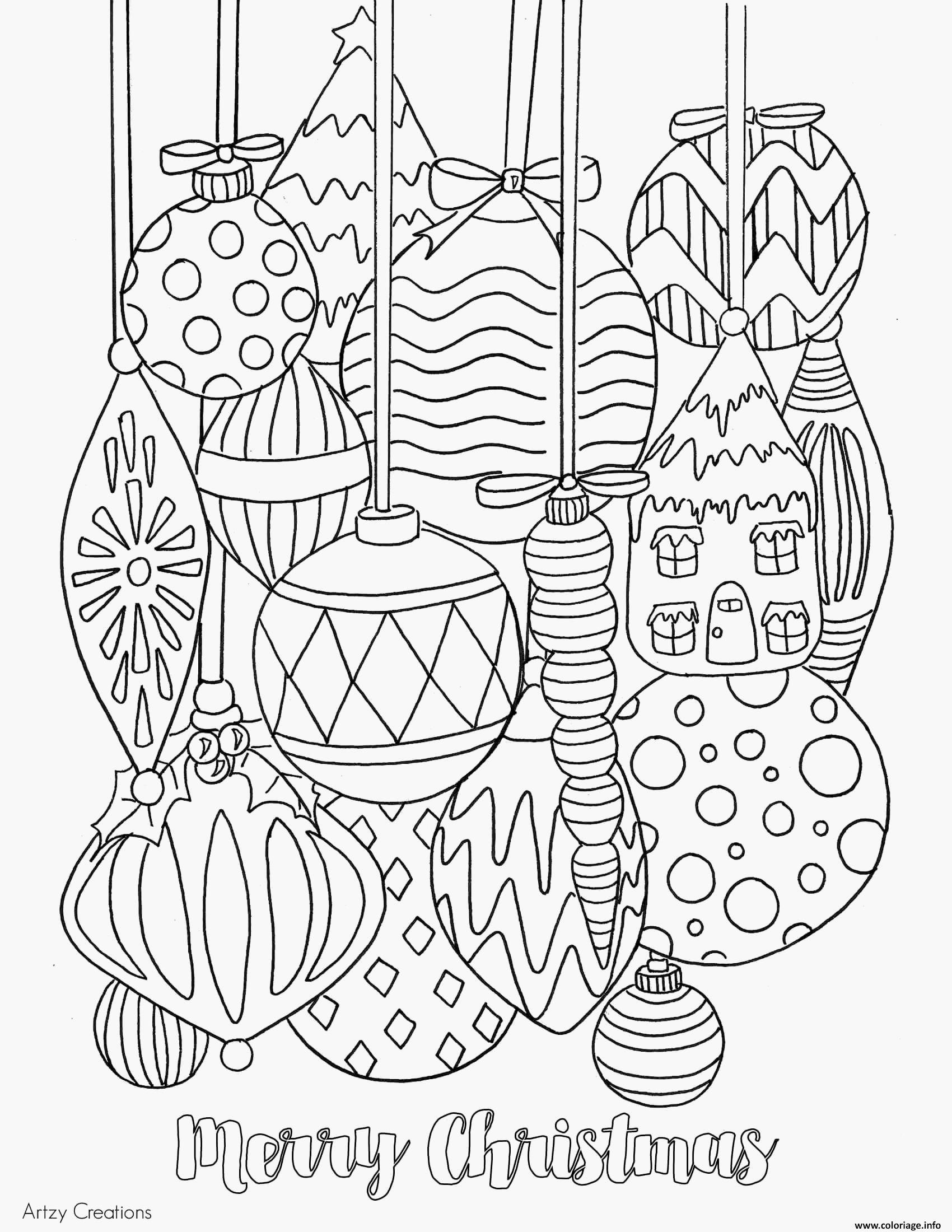 Coloriage Boules De Noel Cool 30 élégant De Boules De Noel A
