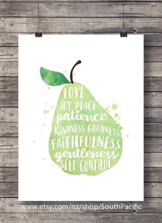 Galatians 522 the fruit of the spirit pear watercolor galatians 522 the fruit of the spirit pear watercolor typography scripture fandeluxe Image collections