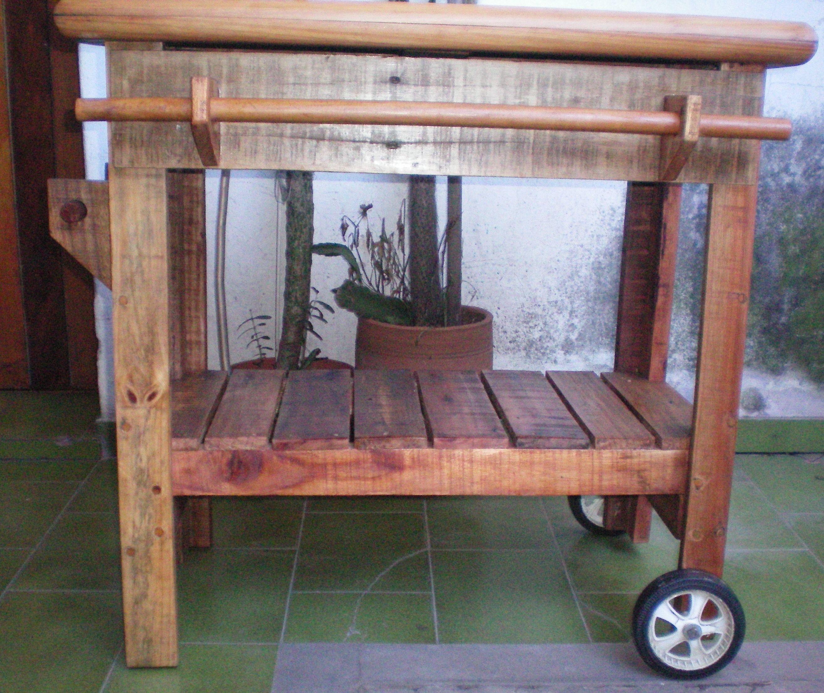 Mesa De Trabajo Tapa Reciclada De Mueble Infantil  # Muebles Sencillos De Madera