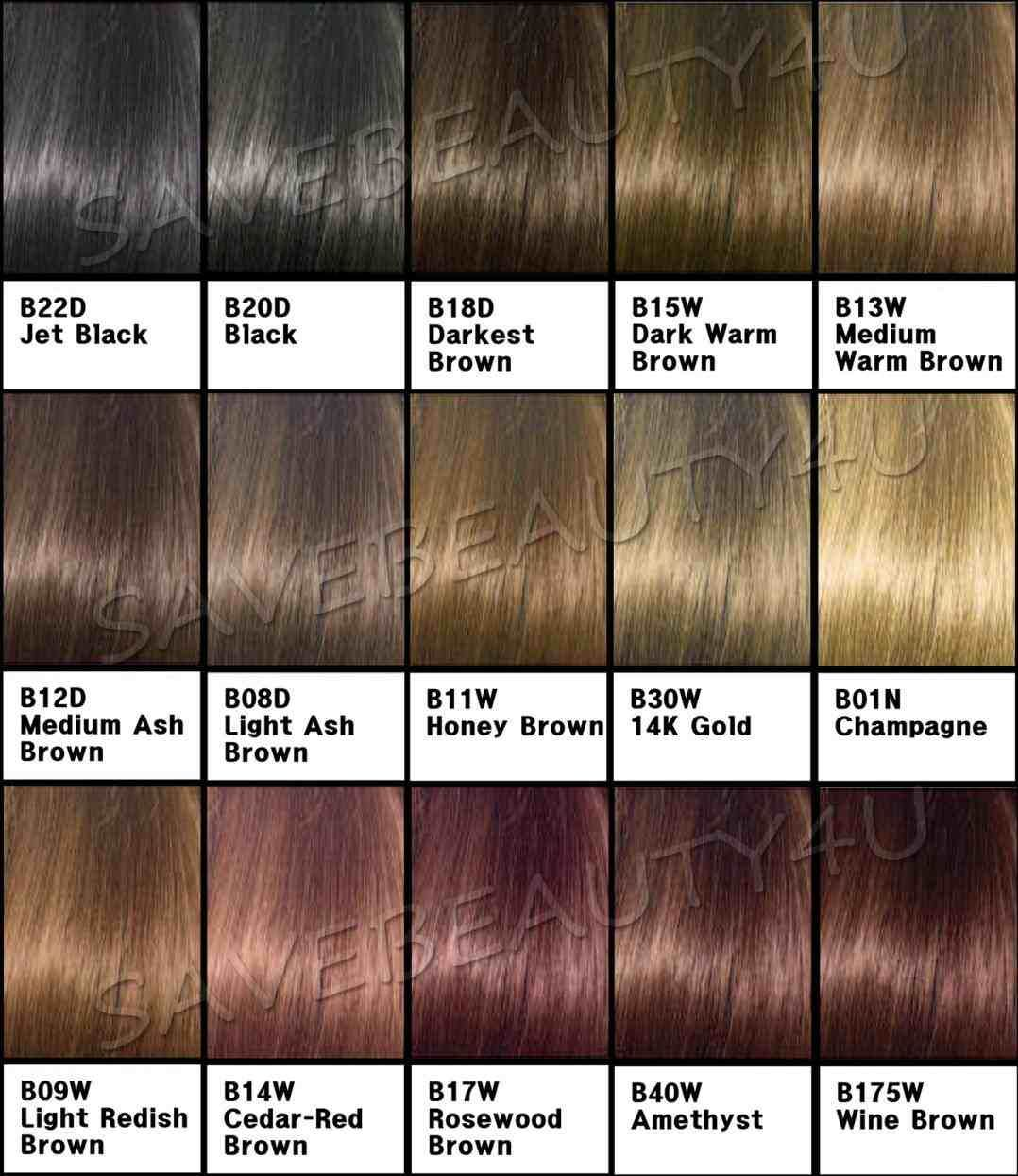 Chocolate Brown Hair Colour Chart Loreal With Images Hair