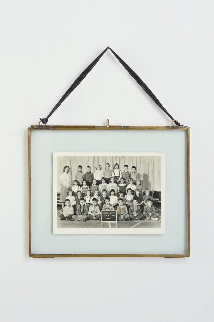 Double sided picture frame: hanging brass | Double sided picture ...