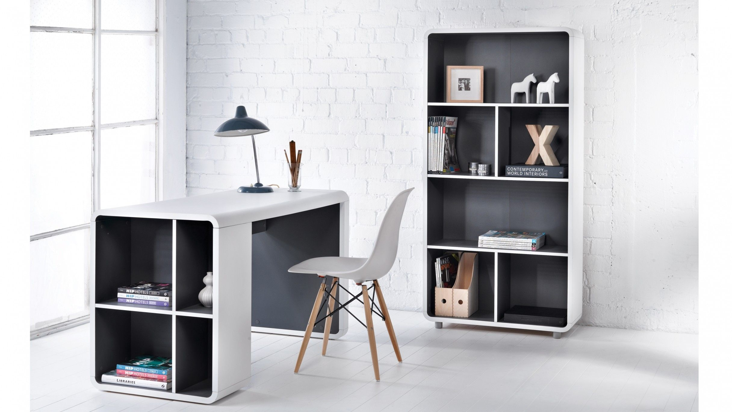 Orbit Bookshelf Desk Justin Harvey Norman