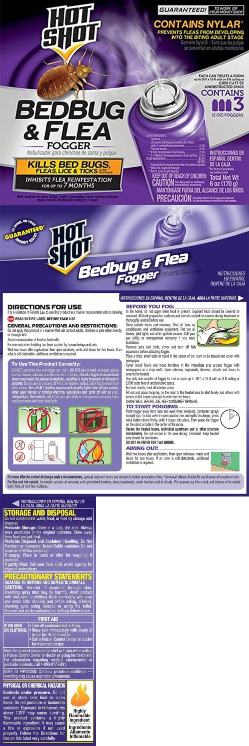 foggers bed bug killer insect control pest bomb kill mosquito fleas weed 3 sprayer