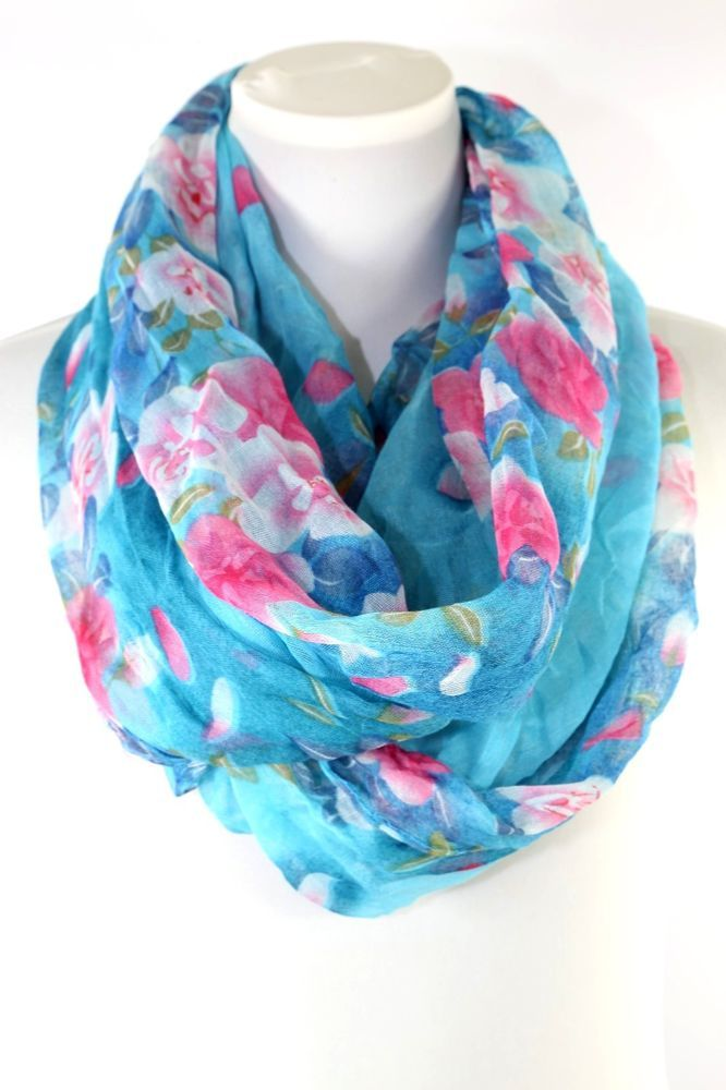 Viscose//Cotton Mix. Women/'s Topshop Lightweight Grey Floral Infinity Scarf