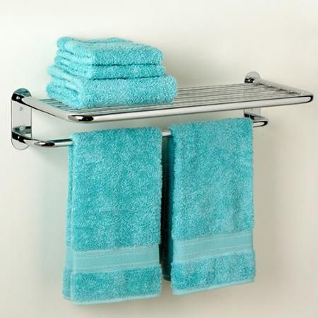 Home Improvement Hotel towels, Towel shelf, Turquoise