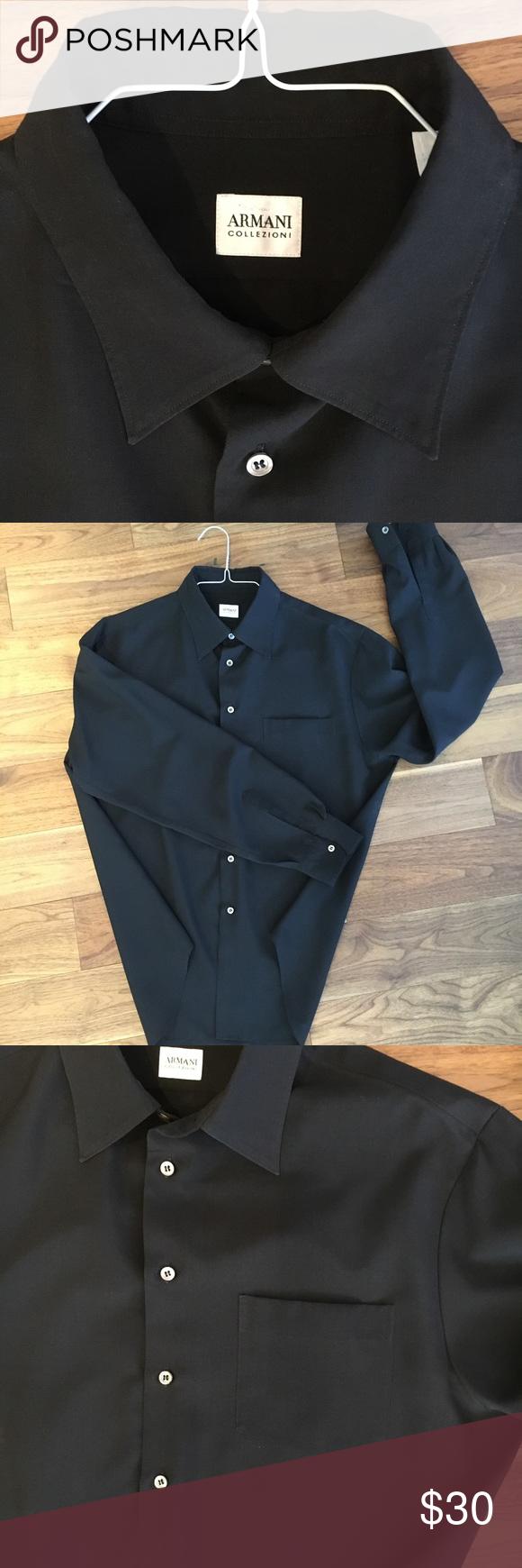 Armani Collezioni Black Dress Shirt Black Shirt Dress Armani Collezioni Shirts [ 1740 x 580 Pixel ]