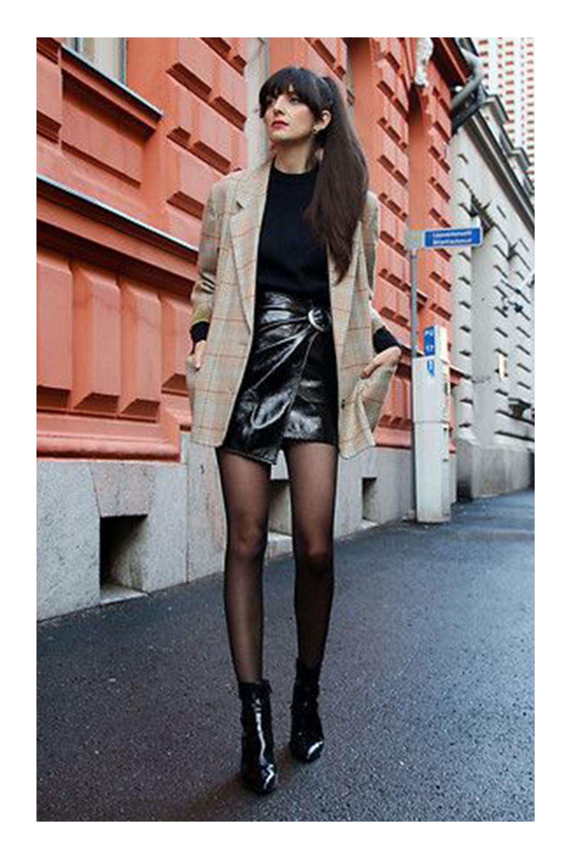 63ace02627 Looks con Faldas de Charol