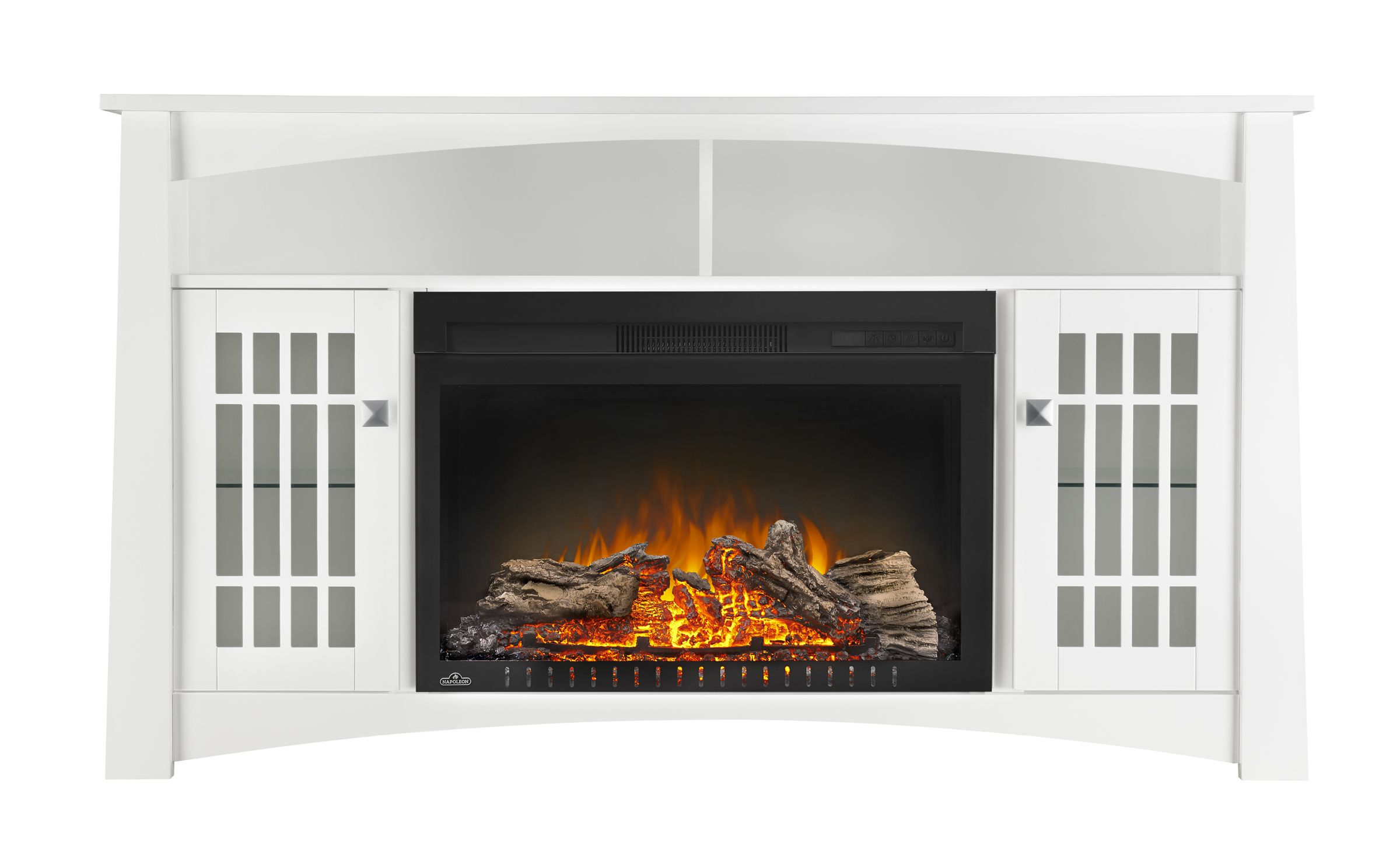 the adele electric fireplace entertainment package by napoleon is