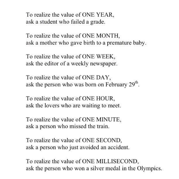 Quotes On The Importance Of Time: Every Millisecond Counts