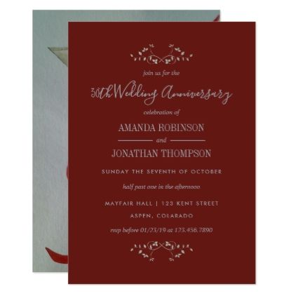 40th ruby wedding anniversary invitation wedding invitations cards 40th ruby wedding anniversary invitation wedding invitations cards custom invitation card design marriage party stopboris Gallery