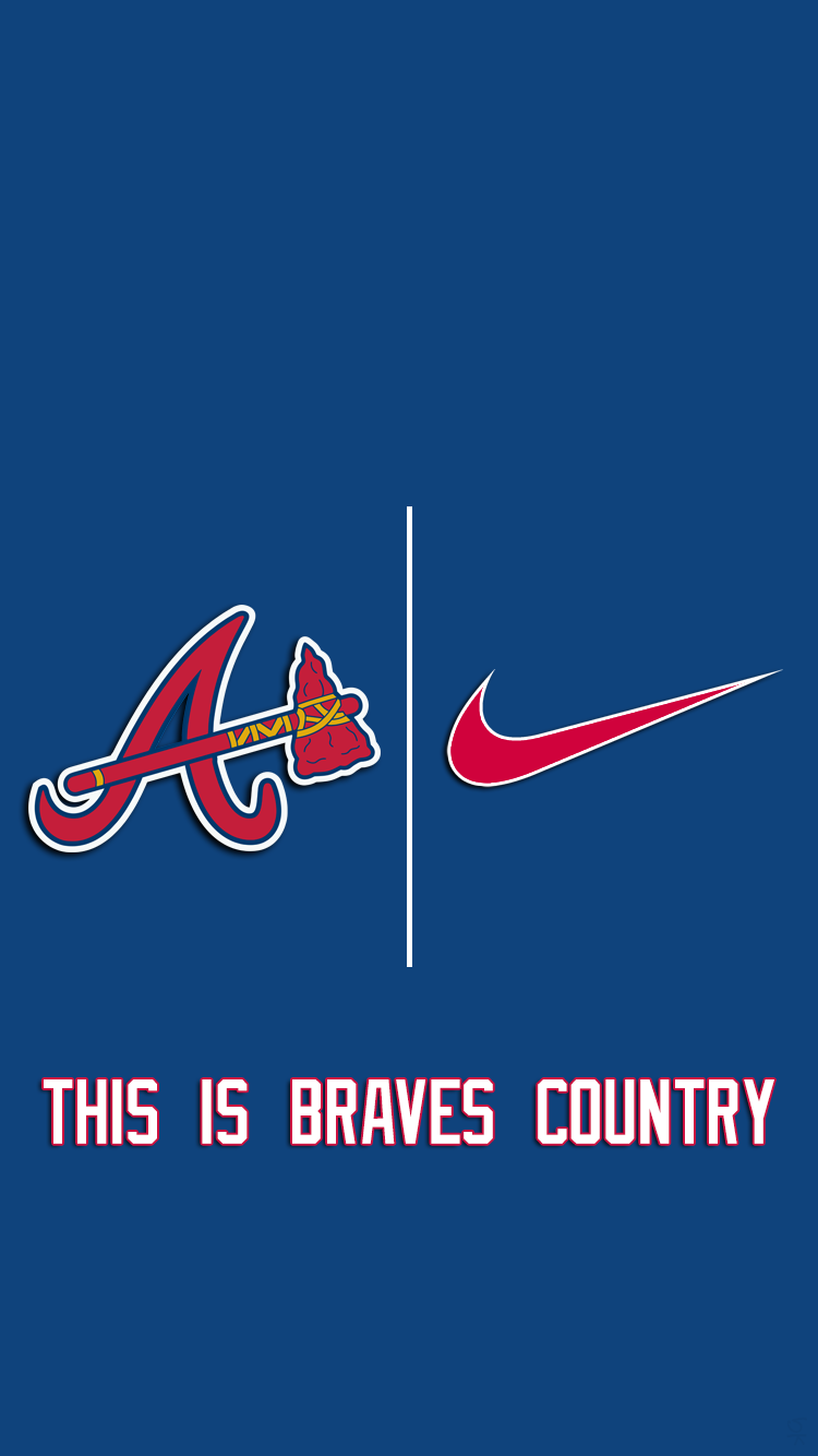 Atlanta Braves Nike 02 Png 658238 750 1 334 Pixels Braves Atlanta Braves Atlanta Braves Wallpaper