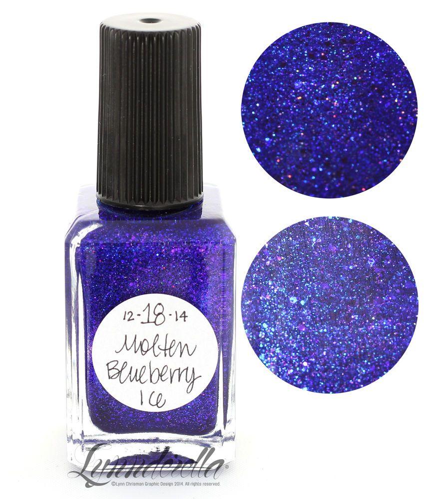 Lynnderella Limited Edition Nail Polish—December 18. Molten Blueberry Ice #Lynnderella