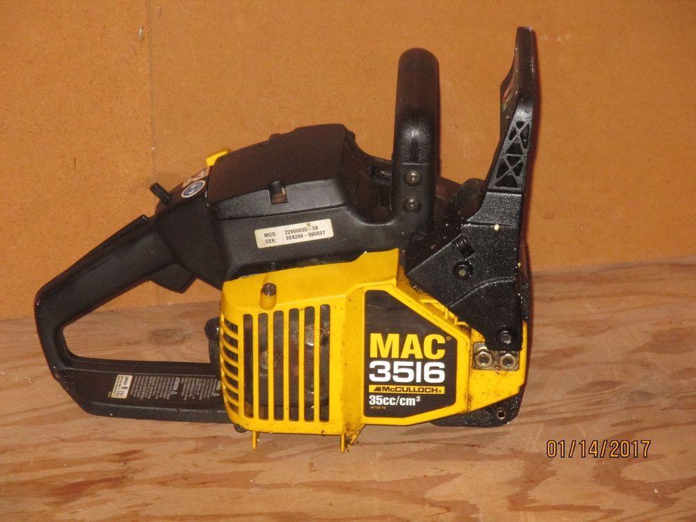 MCCULLOCH CHAINSAW , MAC 3516 | ARBORIST/LOGGER CHAINSAWS