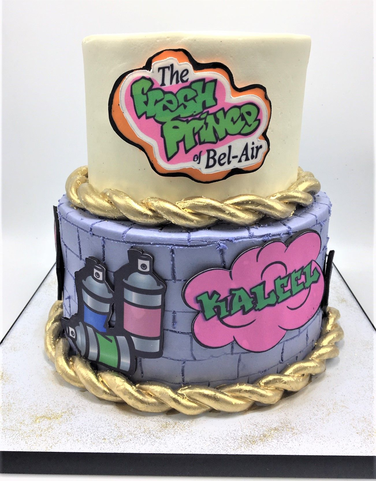 Fresh Prince of Bel Air 80s 90s theme graffiti cake by Flavor ...