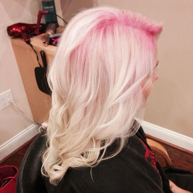 Pink shadowed root! | Niki Nachodsky | Blonde hair pink ...