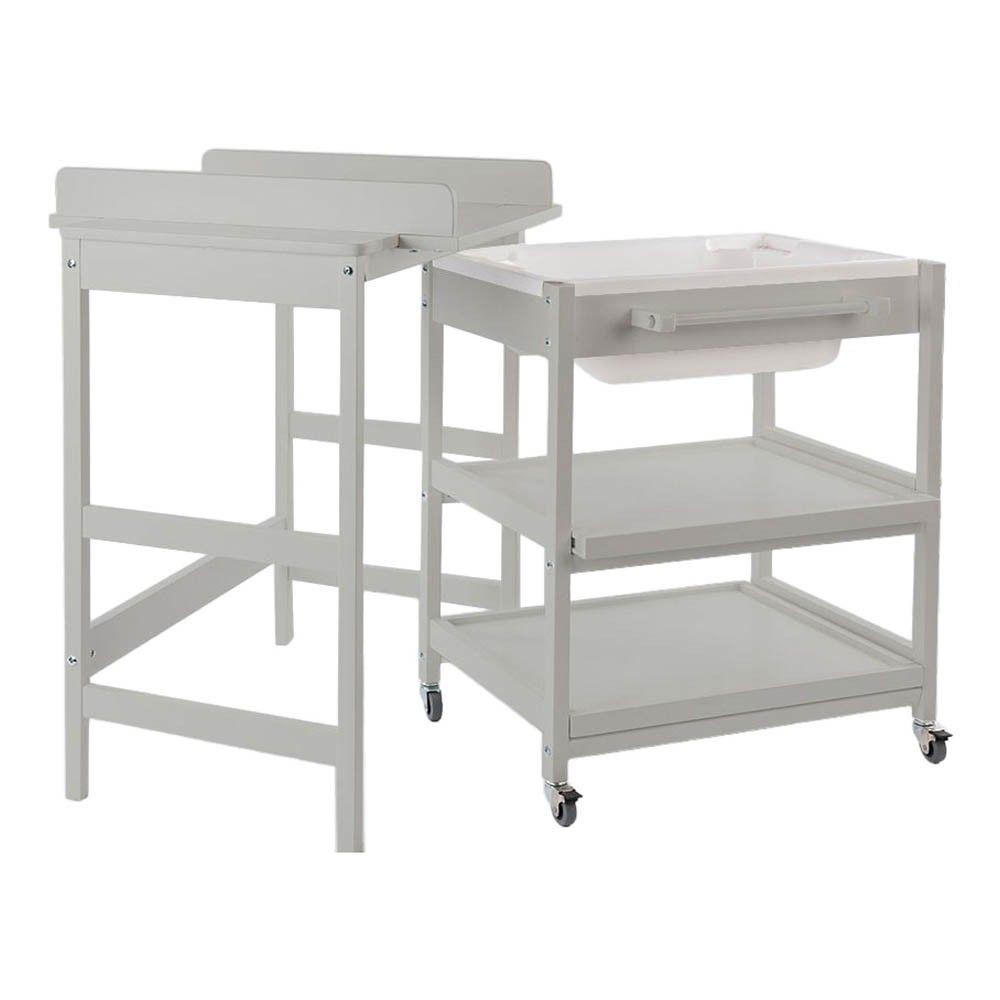 Table A Langer Comfort Smart Baignoire Gris Clair Table A Langer