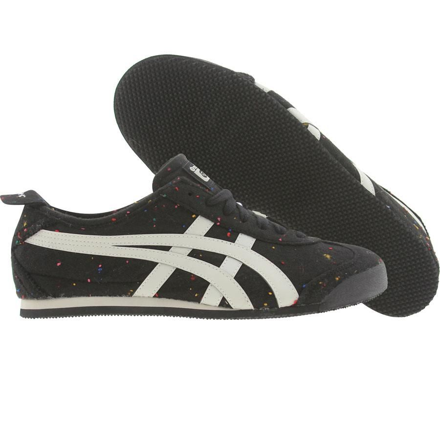 newest collection 85583 d4fa5 Asics Onitsuka Tiger Womens Mexico 66 (speckled black / off ...