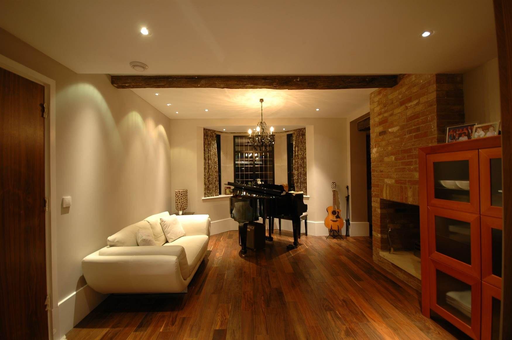 Living Room Lighting Design Mr Resistor Downlights And Pendant In