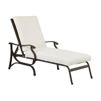 Hampton Bay Pembrey Patio Chaise Lounge with Bare Cushion
