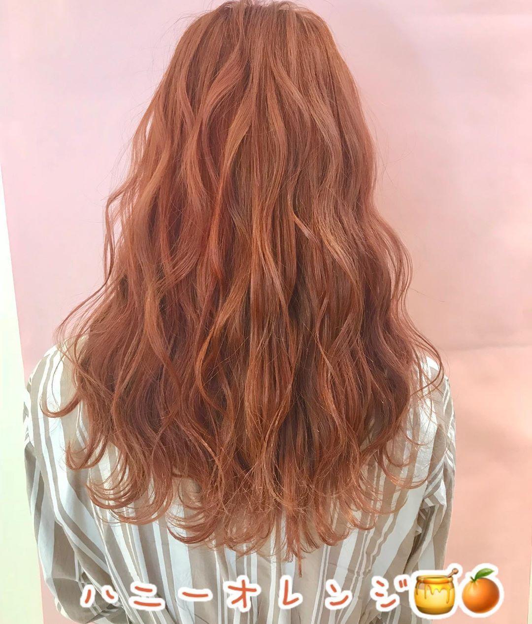 ハニーオレンジ 大人気のハニーオレンジは深みのある上品でオシャレなオススメカラーです 夏休みやフェスなど Long Hair Girl Cool Hairstyles Long Hair Styles