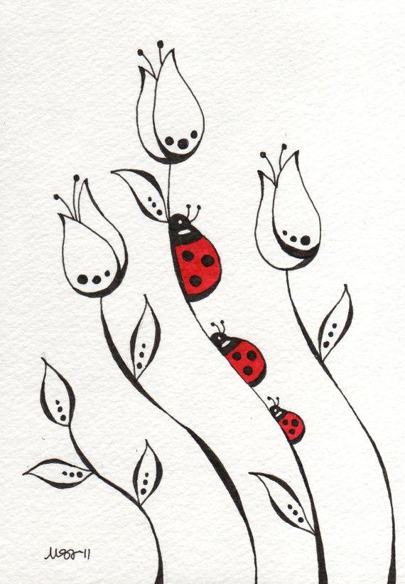 Line Drawing Doodles : Permanecer en las líneas de impresión ideas monas