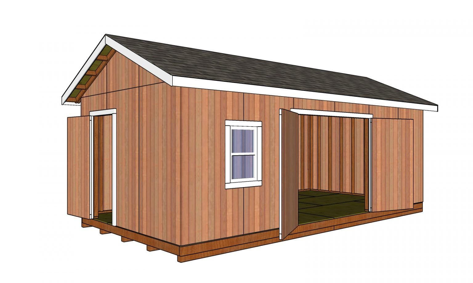 12x24 Shed Plans Free Diy Plans Howtospecialist How To Build Step By Step Diy Plans In 2020 Shed Plans Shed 12x24 Shed