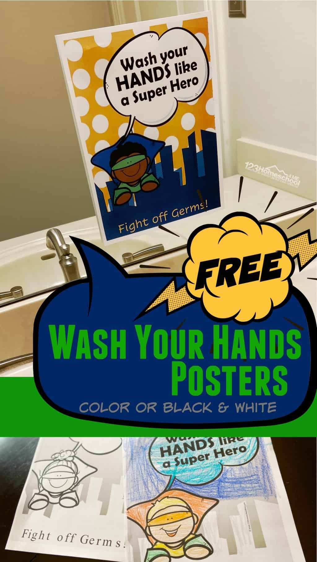 20+ Free Hand Washing Printables in 2020 Hand washing