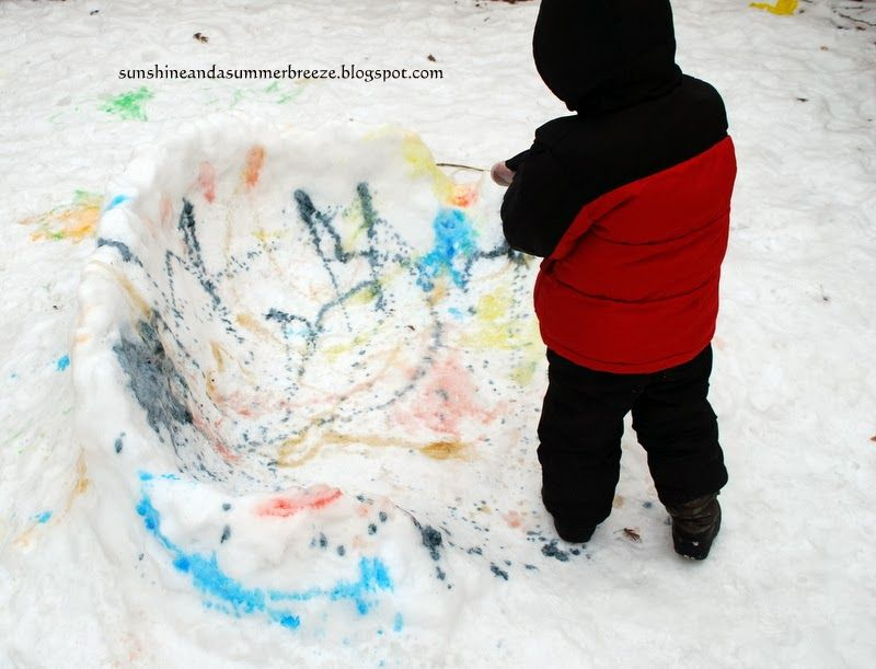 Sunshine and a Summer Breeze: Snow Paint