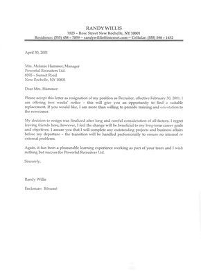 Samples Of Resignation Letters Brilliant Resignation Letter Samples With Reason  Resignation Letter Sample .